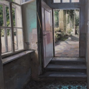 Matteo Massagrande, Wintergarden, 2015, Mixed Media on Board, 70 x 80 cm (27.5 x 31 in).