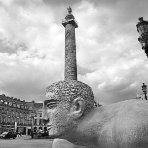 Kevin O'Leary, Place Vendome, 2000, Limited 16 x 24 in. print signed edition of 8. Printed on museum standard archival medium mounted in a 26.5 x 34.5 in. handmade frame. Courtesy Arcature Fine Art.