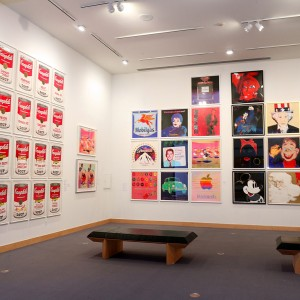 Installation view, Andy Warhol exhibitions, Boca Raton Museum of Art. Photograph by Christopher Fay.