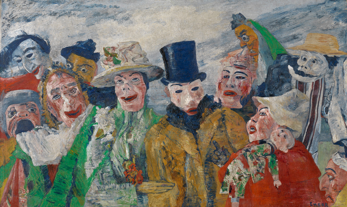 Intrigue James Ensor by Luc Tuymans