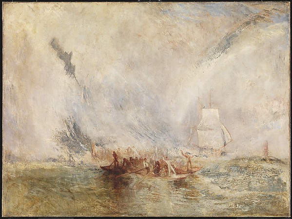 Joseph Mallord William Turner (British, London 1775–1851 London) Whalers,  Oil on canvas; 35 7/8 × 48 in. (91.1 × 121.9 cm) Frame: 51 3/16 × 63 3/8 × 11/16 in. (130 × 161 × 1.8 cm) The Metropolitan Museum of Art, New York,  (SL.13.2016.3.1) http://www.metmuseum.org/Collections/search-the-collections/647150