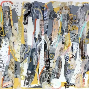 Kathryn Adele Schumacher, De-constructed, Mixed media collage, 24 x 36 in. Courtesy of the artist.