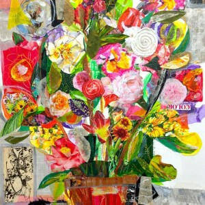 Kathryn Adele Schumacher, L'Orangerie, Mixed media collage, 37 x 25 in. Courtesy of the artist.