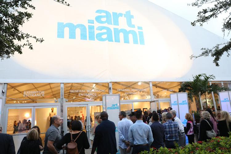 attends the Art Miami 2016 VIP Preview at Art Miami Pavilion on November 29, 2016 in Miami, Florida.