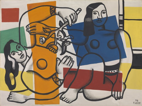 Leger, Two Women Holding Flowers, T00246