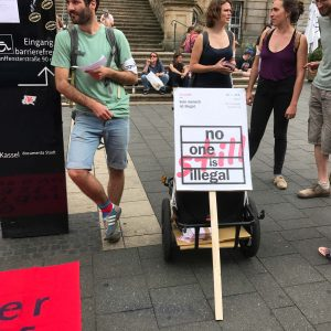 This, Too, Is Not A Performance. It is an Immigrants' Rights Protest which took place in Kassel. Photo by Author.