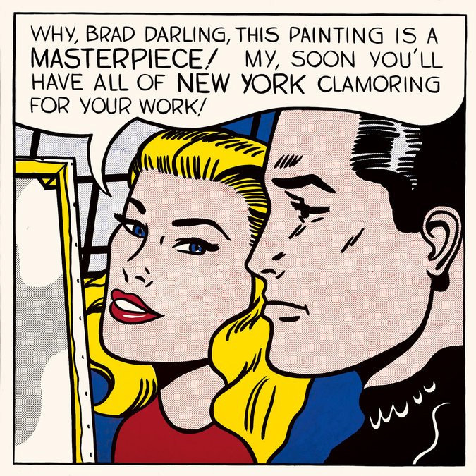"""Roy Lichtenstein's """"Masterpiece"""" (1962). Courtesy of the Estate of Roy Lichtenstein."""
