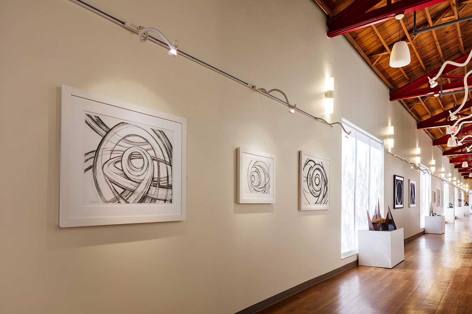 "Installation 2: Hubert Phipps, ""Drawings for Sculpture,"" The Gallery at Center for Creative Education. © Sargent Photography"