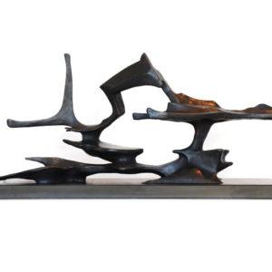 Hubert Phipps, Waterworks, 2016, Cast bronze, 13 x 31 x10 in. (33.02 x 78.74 x 25.4 cm)