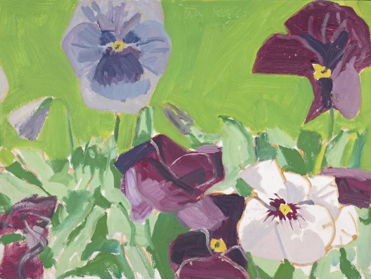 Pansies 1967 Alex Katz born 1927 ARTIST ROOMS  Acquired jointly with the National Galleries of Scotland through The d'Offay Donation with assistance from the National Heritage Memorial Fund and the Art Fund 2008 http://www.tate.org.uk/art/work/AR00001