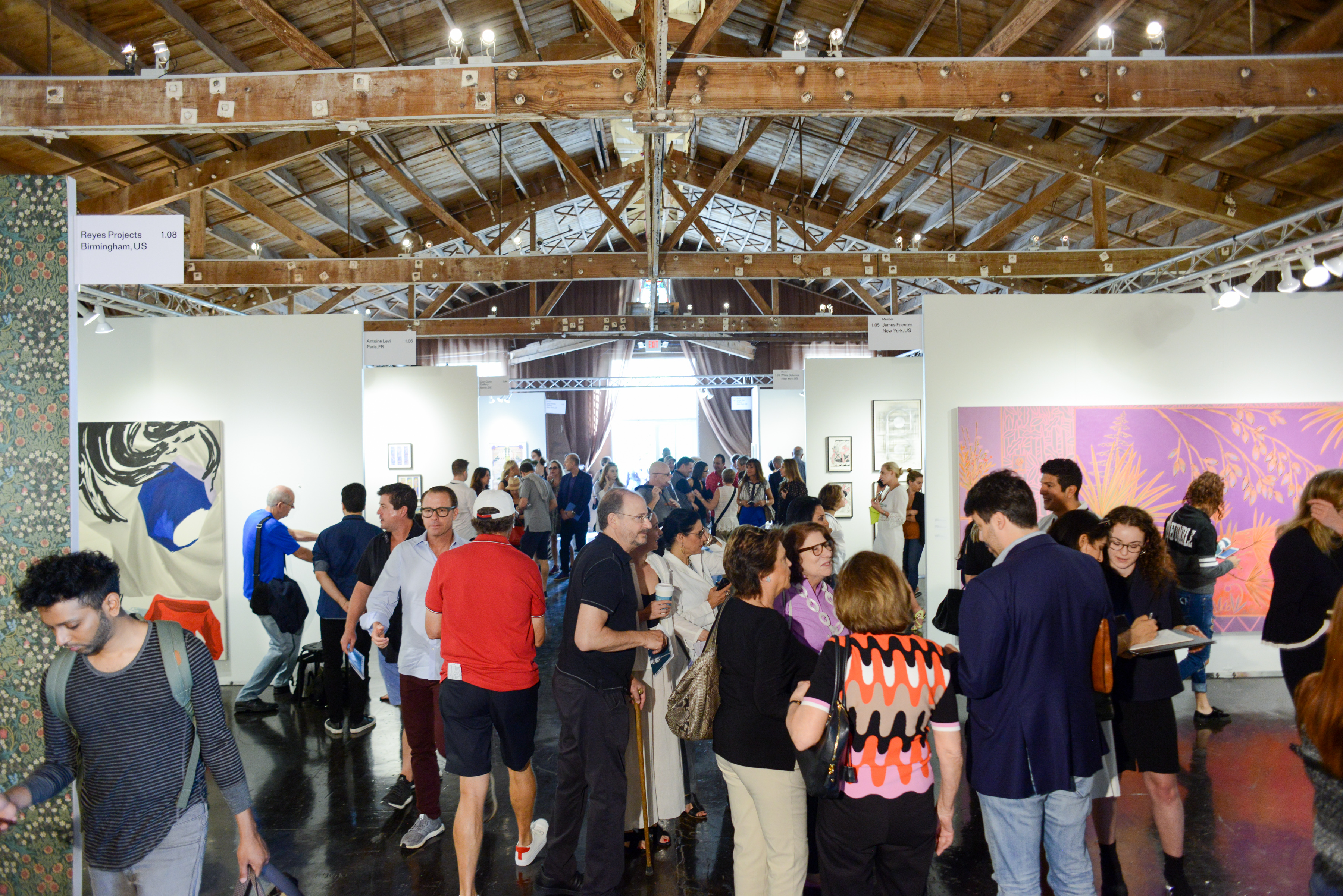 For the 2017 edition of NADA Miami, the art fair returned to its original location, the Ice Palace in Wynwood. Photograph by Casey Kelbaugh