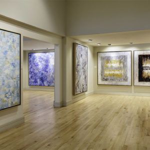 "Installation, ""Jill Krutick: Lyrical Abstraction,"" solo exhibition at the Coral Springs Museum of Art, Coral Springs, Florida. Through May 18, 2019. Credit: Sargent Photography."