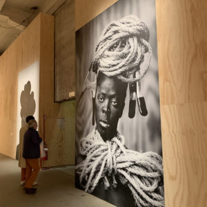 Photograph by Zanele Muholi in the Arsenale